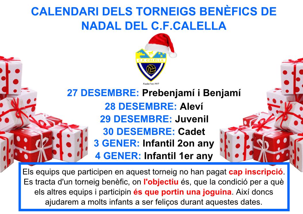 Torneig benèfic de Nadal del C.F.Calella