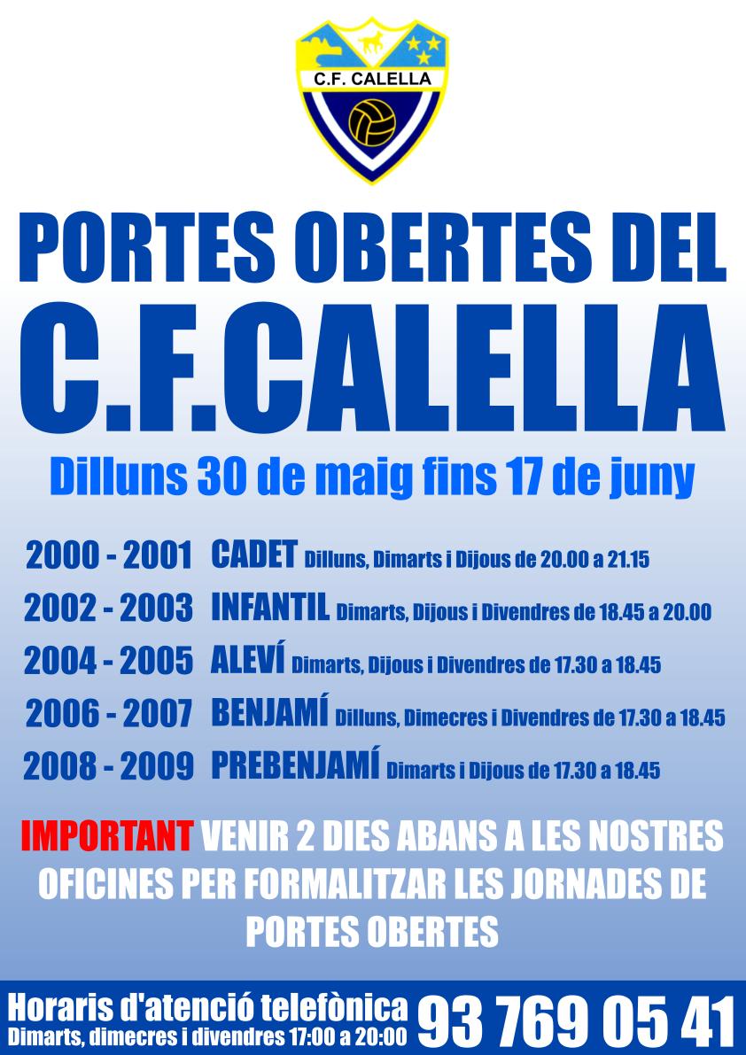 Portes Obertes C.F.Calella
