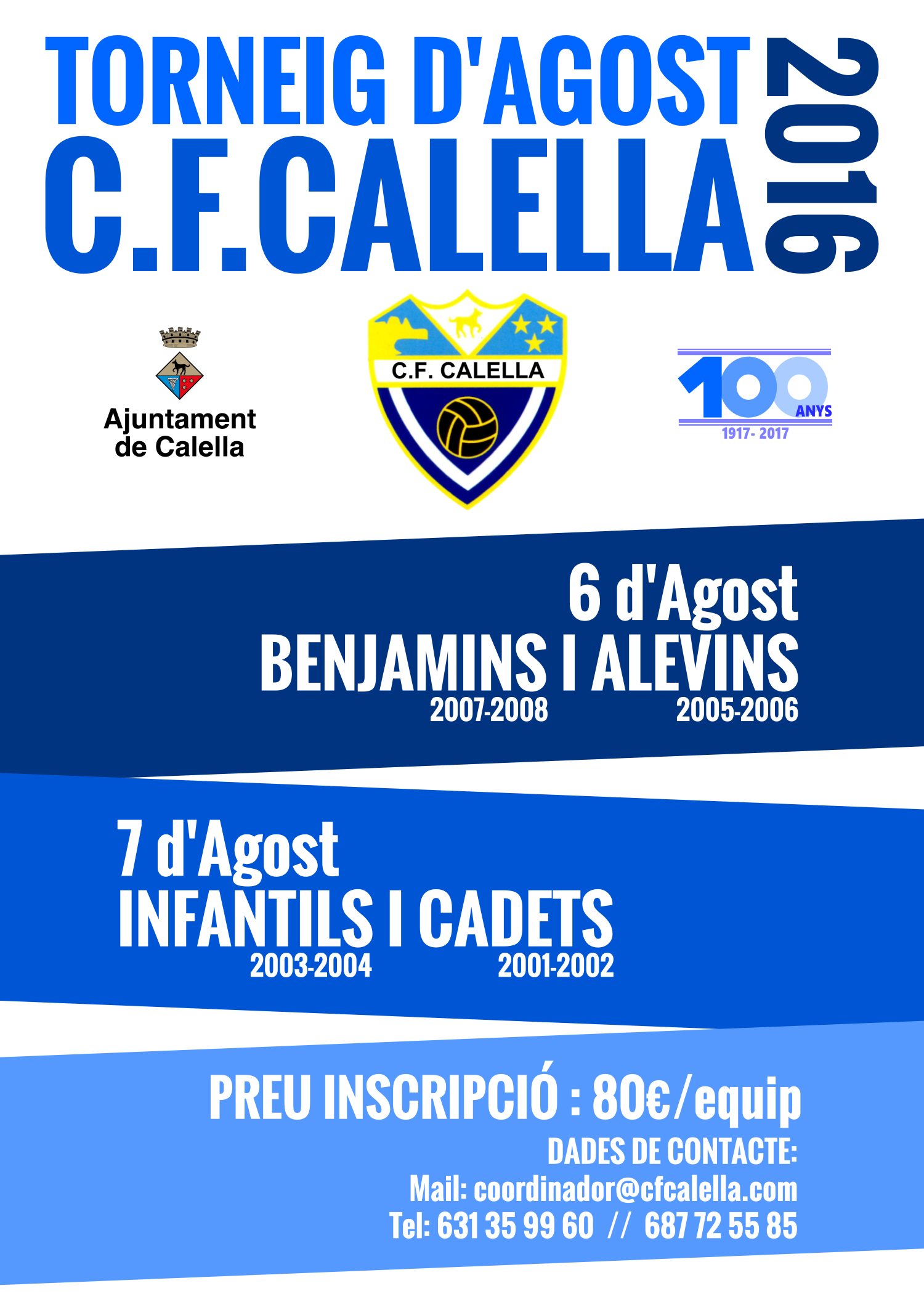 Torneig Agost 2016 CFCalella